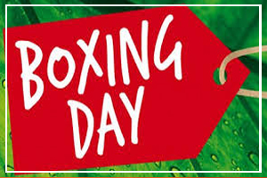 December 26 - Boxing Day