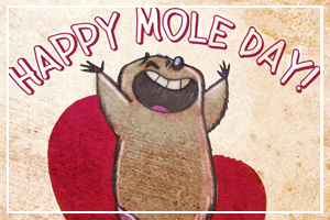 October 23 - National Mole Day